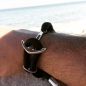 Preview: Silver+Surf Silber Schmuck Anker XL Wood Armband