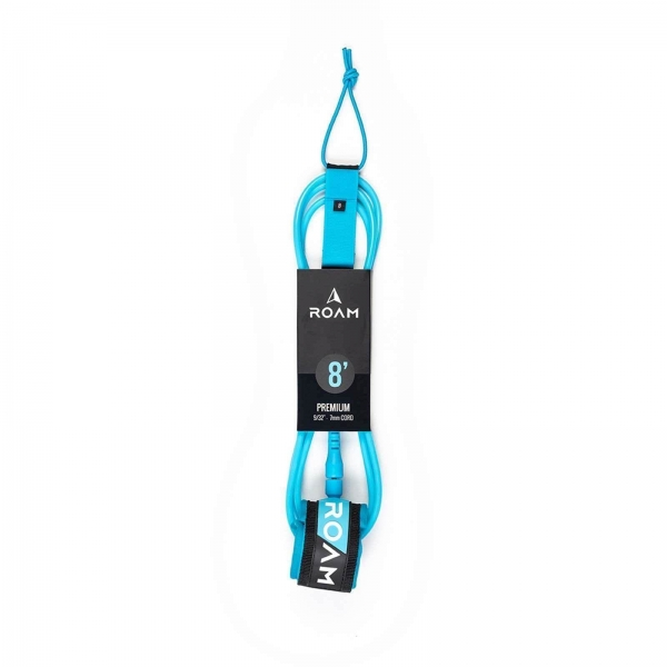 ROAM Surfboard Leash Premium 8.0 244cm 7mm Blau