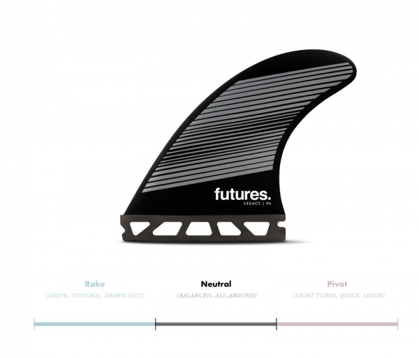 FUTURES Thruster Fin Set F6 Honeycomb Legacy neutr